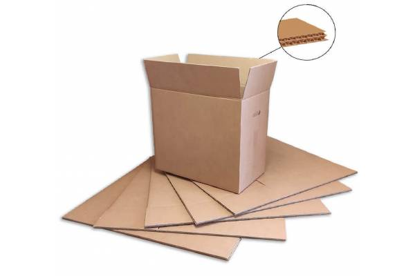 Cardboard box with handles 600x330x540mm