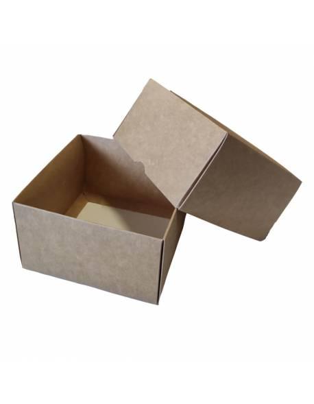 Kartoninė dėžutė 2-jų dalių 120x120x70mm (XS)