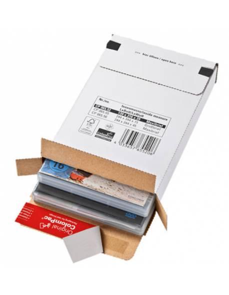Kartoninė dėžutė pašto siuntoms 244x344x15mm (S)