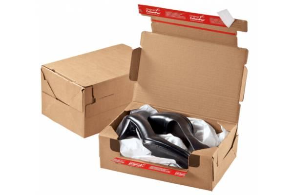 Cardboard box with return tape CP069, 282x191x90mm (M)
