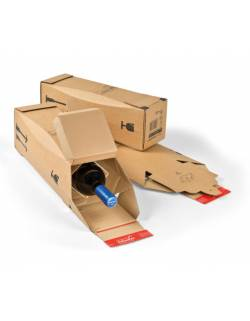 Cardboard box for a bottle CP181, 305x74x74mm (XS)