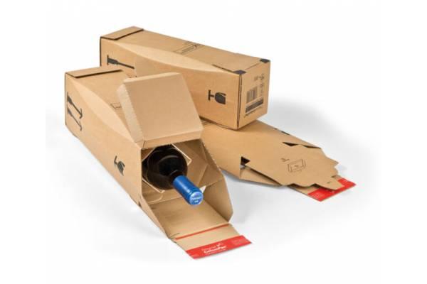 Kartoninė dėžutė buteliui 305x74x74mm (XS)