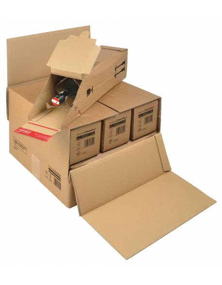 Cardboard, outer box for bottle boxes 375x365x250mm