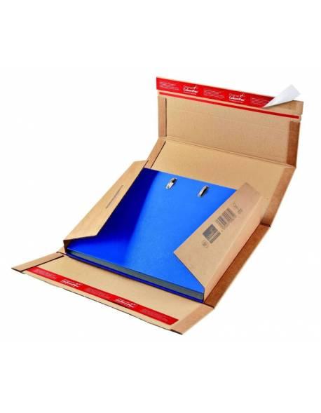 Kartoninė dėžutė siuntoms 320x290x35-80mm Ruda