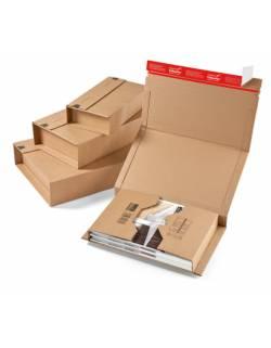 Cardboard, flexible, wraparound box for shipments CP020, 147x126x55mm (XS)