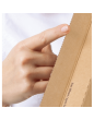 Cardboard, flexible, wraparound box for shipments 147x126x55mm (XS)