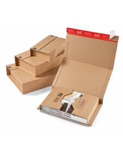 Kartoninė, apvyniojama dėžutė siuntoms CP020, 325x250x80mm (M)