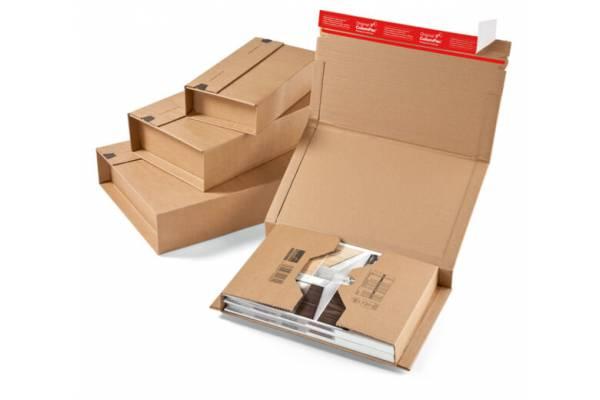 Kartoninė, apvyniojama dėžutė siuntoms 307x245x75mm (S)