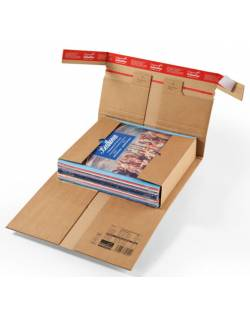 Cardboard box with protective folds CP030, 310x220x92mm (M)