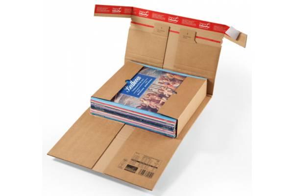 Kartoninė dėžė su apsauginiais užlenkimais 310x220x92mm (M)