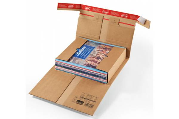 Cardboard box with protective folds 322x292x35-80mm (S)