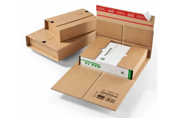 Kartoninė, tvirtos dėžutės siuntoms 250x190x85mm (M)