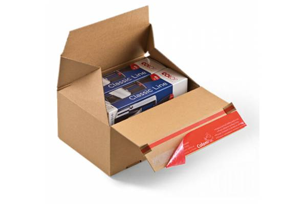 Cardboard boxes with quick folding bottom CP154, 195x95x90mm (M)