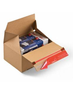 Cardboard boxes with quick folding bottom CP154, 194x194x387mm (L)