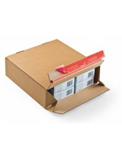 Cardboard boxes with quick folding bottom CP154, 294x94x137mm (M)