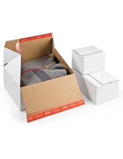 Cardboard boxes with quick folding bottom CP155, 389x324x160mm (M)