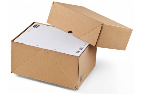 Document storage boxes A4 with lid CP121, 308x221x50mm