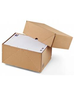 Document storage boxes A4 with lid CP121, 308x221x100mm