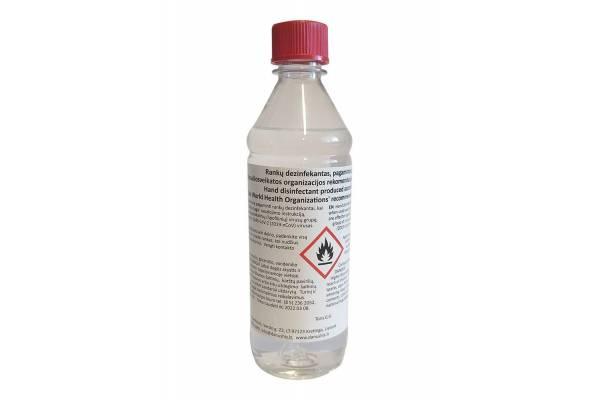 Rankų dezinfekavimo skystis be dozatoriaus 0,5L