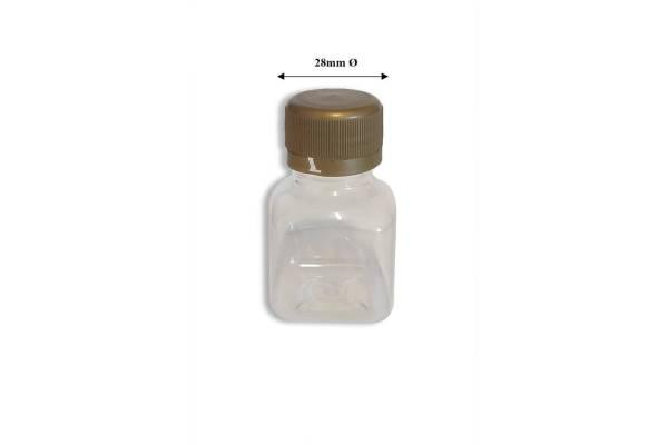 Buteliukas kvadratinis PET 50ml