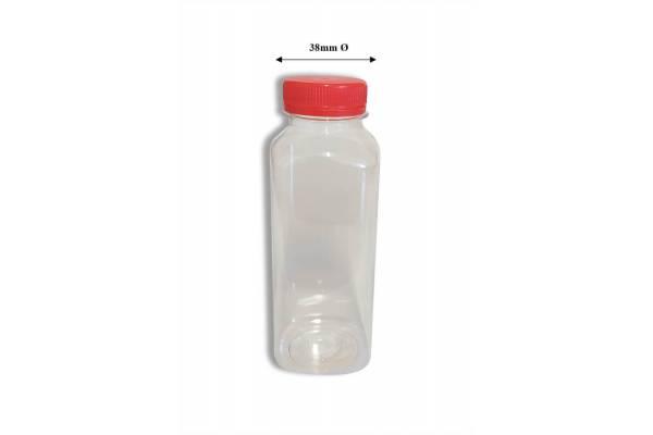 Buteliukas stačiakampis PET 250ml