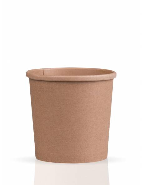 Vienkartinis popierinis indas sriubai rudas 770ml 117x93x111mm 25vnt./pak. 500vnt/dėž