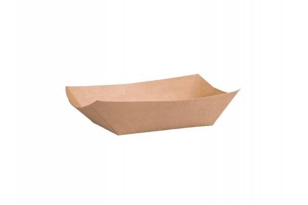 """Vienkartinė popierinė lėkštė gili pailga """"laivelis"""" L dydis 135x86x50 mm 250vnt/pak 1000vnt/dėž"""