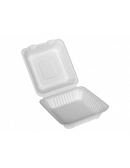 Vienkartinė popierinė pietų dėžutė 230x230x75mm 50 vnt.