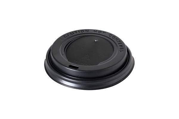 PET dangtelis popieriniam puodeliui juodas/black Ø80mm /250ml  100vnt./pak.1000vnt/dėž