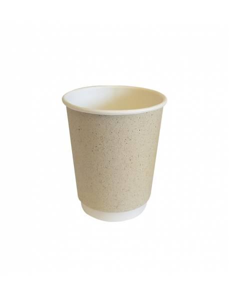 Vienkartinis popierinis puodelis dviguba sienele 250ml Ø80mm 18vnt/pak.PAPER GRASS(450 vnt/dėžėje)