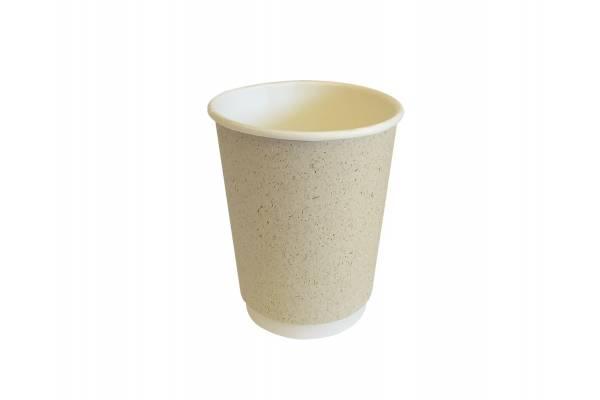 Vienkartinis popierinis puodelis dviguba sienele 300ml Ø90mm 25vnt/pak.PAPER GRASS