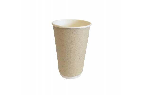 Vienkartinis popierinis puodelis dviguba sienele 400ml Ø90mm 20vnt/pak. 400vnt/dėžėje PAPER GRASS