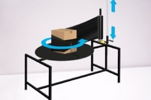 Rotary packing tables